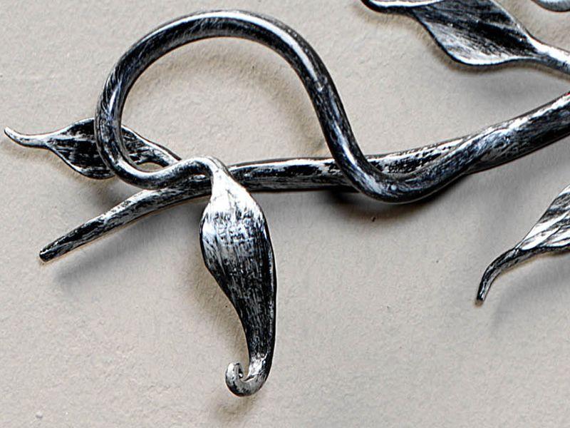 ramo portemanteau mural en fer forg avec 3 crochets diff rentes couleurs sediarreda. Black Bedroom Furniture Sets. Home Design Ideas
