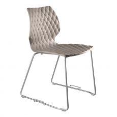 Uni 552 - Sedia design in metallo e polipropilene, impilabile, anche per giardino