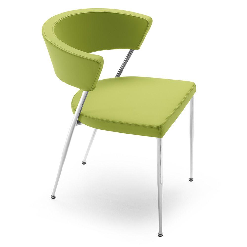 Prinz per bar e ristoranti sedia in metallo con for Sedie in similpelle