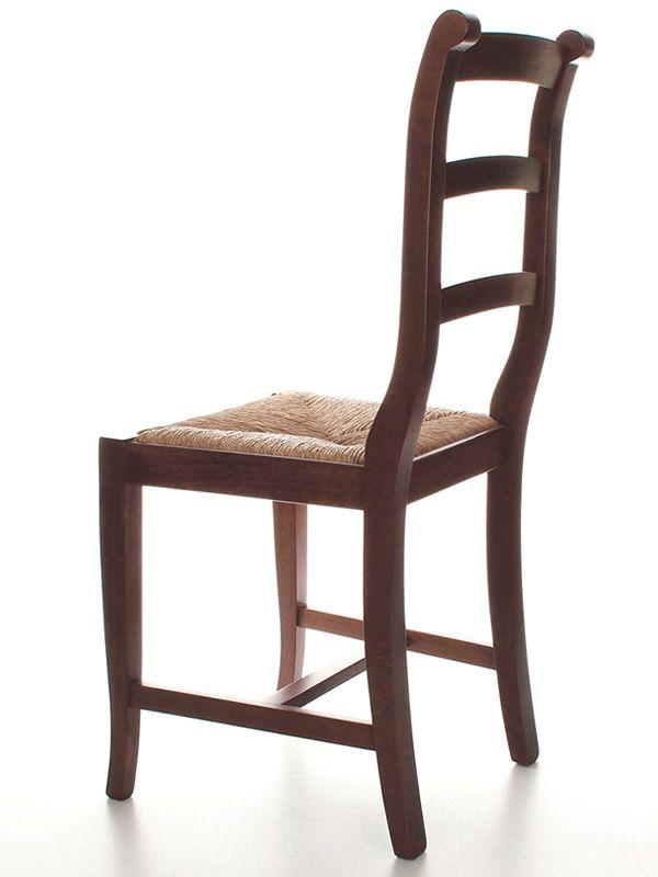 Mu84 pour bars et restaurants chaise rustique en bois diff rentes teintes - Assise en paille pour chaise ...