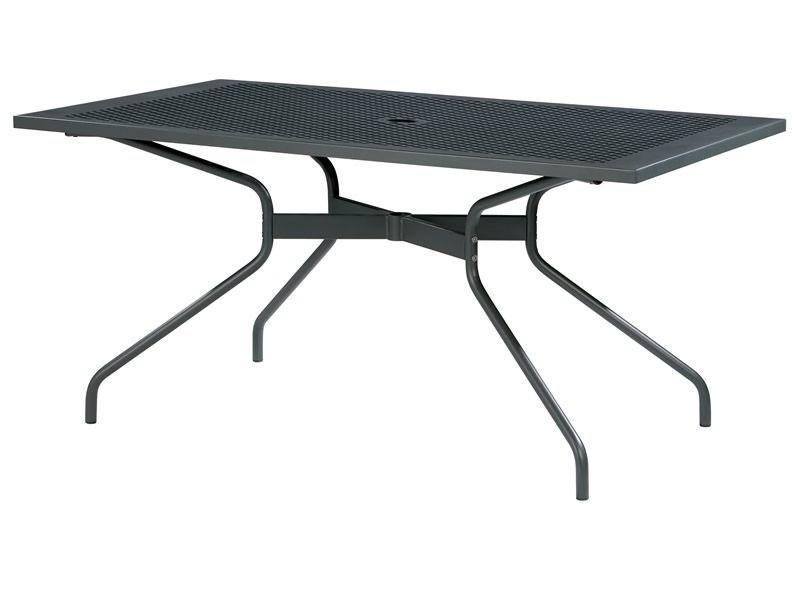 Rig34 tavolo fisso in metallo diverse misure per for Tavolo metallo giardino