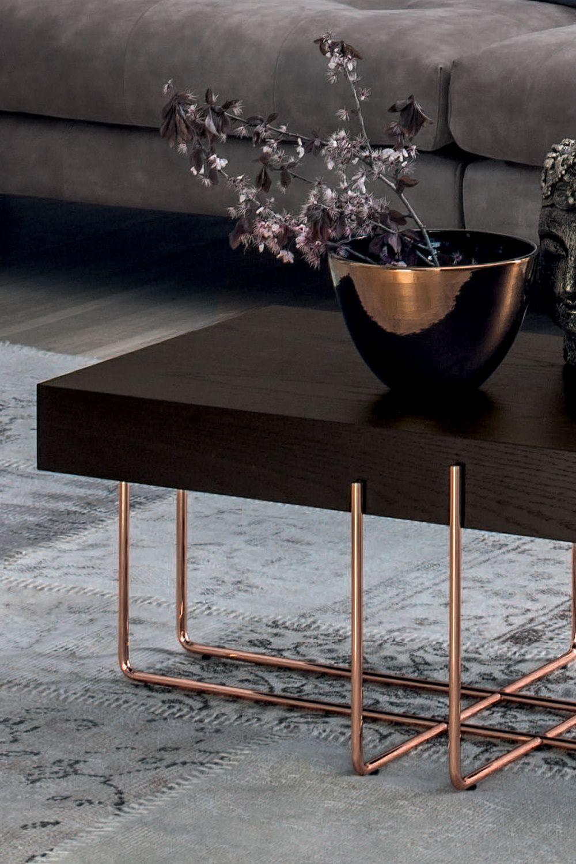 Cruz 6878 Tonin Casa Coffee Table With Metal Frame And