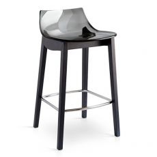 CB1541 Led W - Connubia - Calligaris fixed stool made of wood and SAN, different colours available, seat height 65 cm
