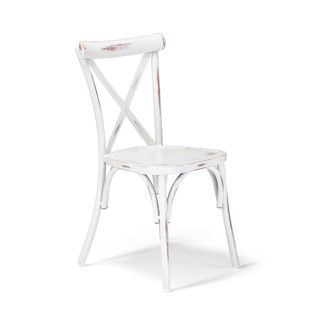 tt972 wiener stuhl aus aluminium in antik weiss lackiert stapelbar sediarreda. Black Bedroom Furniture Sets. Home Design Ideas