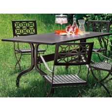Achille 2701 - Metal table for outdoor, 160x85 cm