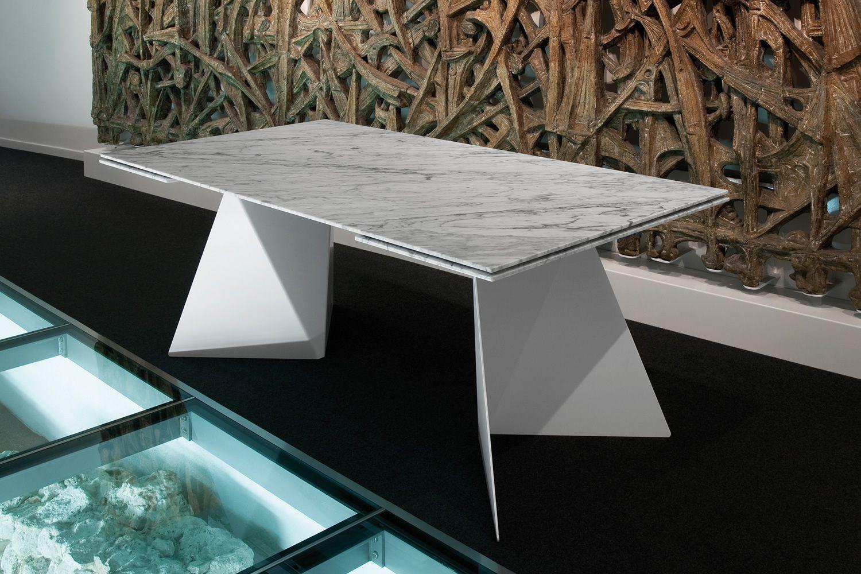 euclide a table domitalia en m tal plateau en marbre c ramique ou verre 198 x 98 cm. Black Bedroom Furniture Sets. Home Design Ideas