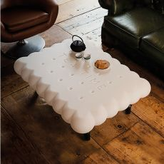 Tea Time - Slide polyethylene coffee table, different colours, also for garden, also with light system