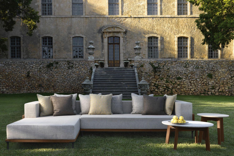 Cleo c divano con chaise longue sfoderabile per - Chaise longue giardino ...
