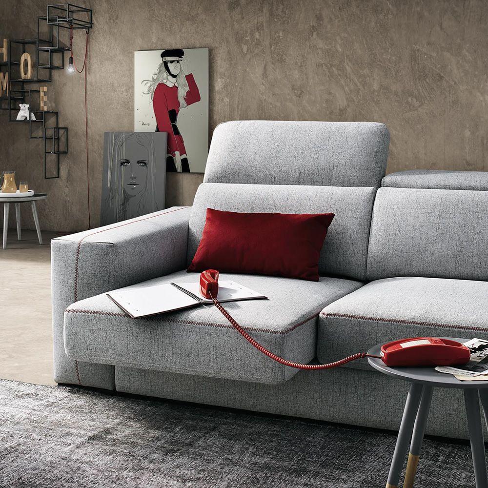 Astor divano a 2 3 posti o 3 posti maxi sedute estraibili e poggiatesta reclinabili - Divano seduta estraibile ...