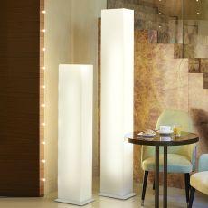Brick - Lampe de sol Slide en polyéthylène et métal, en différentes hauteurs