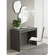 PA308 - Console-table in laminated wood, 50x100 cm top, in several finishes, extendable