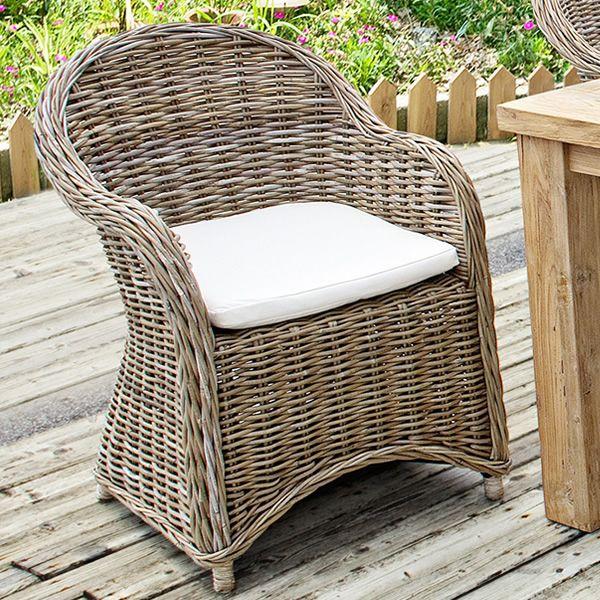 Elmas fauteuil en rotang en diff rentes couleurs avec - Fauteuil pour jardin ...