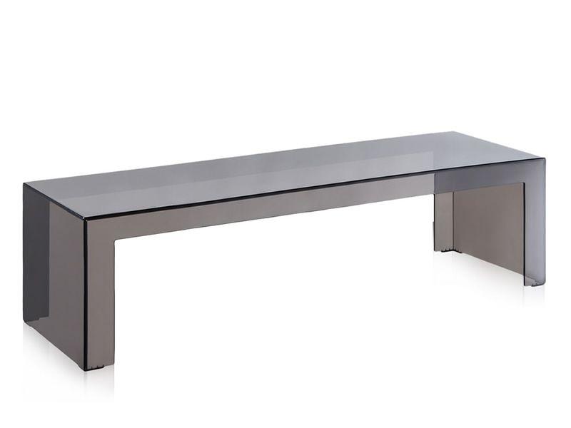 invisible side - tavolino kartell di design, in polimero, 120x40 ... - Kartell Arredo Bagno