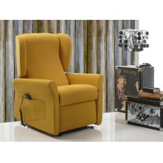 Begonia - Electric and adjustable relax armchair, different upholsteries and colours available, totally removable covering, also with Roller system and massage kit