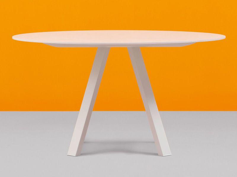 Arki Table Tavolo Di Design Pedrali Fisso In Metallo
