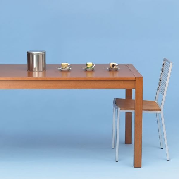 Pot09 beech or oak wood table 140x80 cm extendable for Table 140x80