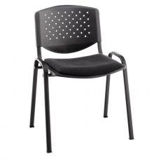 ML101 - Sedia da attesa con seduta imbottita e schienale in pvc, impilabile