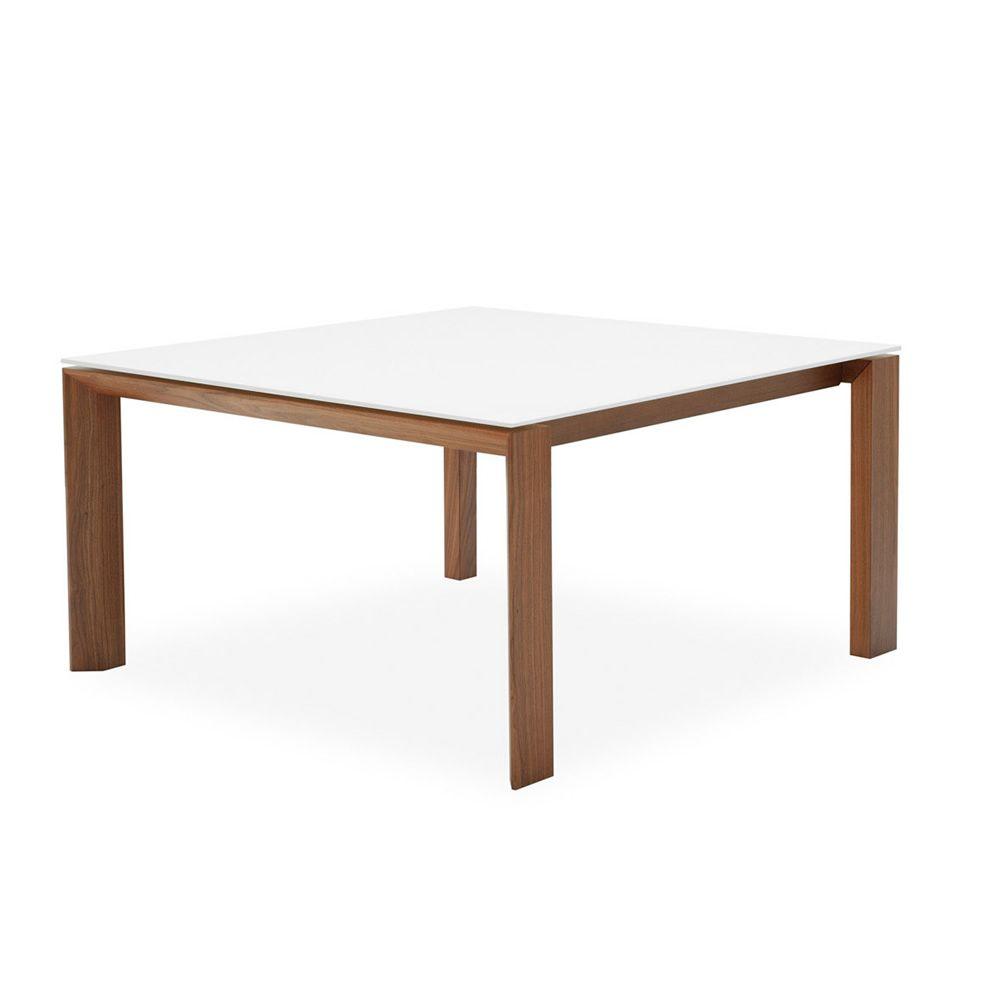 Cs4058 qlv omnia glass calligaris holztisch mit for Holztisch mit glasplatte