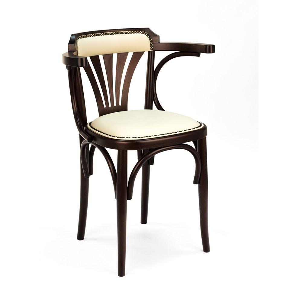 Se620 sedia viennese in legno con braccioli seduta for Sedie similpelle