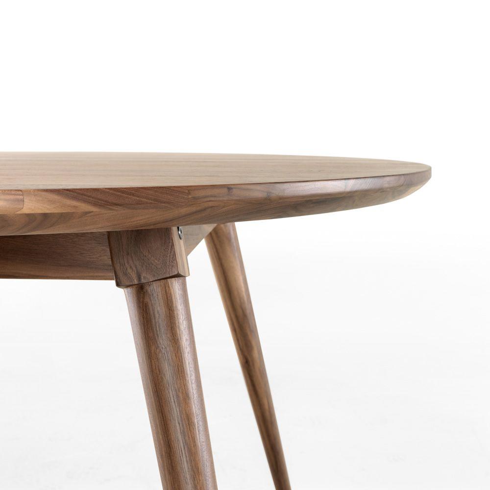 maria table ronde en bois fixe 130 cm disponible en plusieurs essences de bois sediarreda. Black Bedroom Furniture Sets. Home Design Ideas