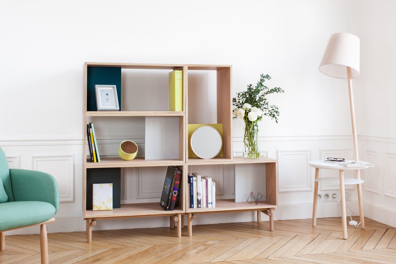 Edgar Biblioth Que Modulable De Design En Bois Et Mdf Sediarreda # Bibliotheque Modulaire
