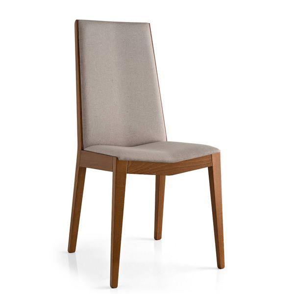 Cb1429 astrid per bar e ristoranti sedia in legno for Sedie similpelle