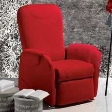 Ginestra - Manual relax armchair, different upholsteries and colours available, totally removable covering