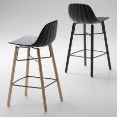 Babah Wood SG - Sgabello Chairs&More, in legno e poliuretano, disponibile in diversi colori e altezze della seduta