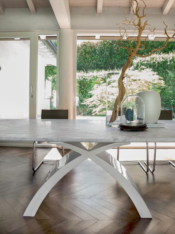 Super Tokyo-L 6951 - Tavolo fisso Tonin Casa in agglomerato di marmo con  UP29