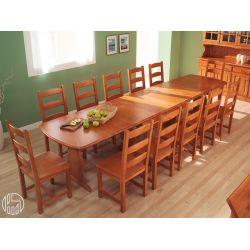 Av700 tavolo in pino multiposto 190 x 90 cm for Tavoli rustici allungabili