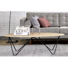 Orb - Tavolino Universo Positivo in metallo con piano in legno