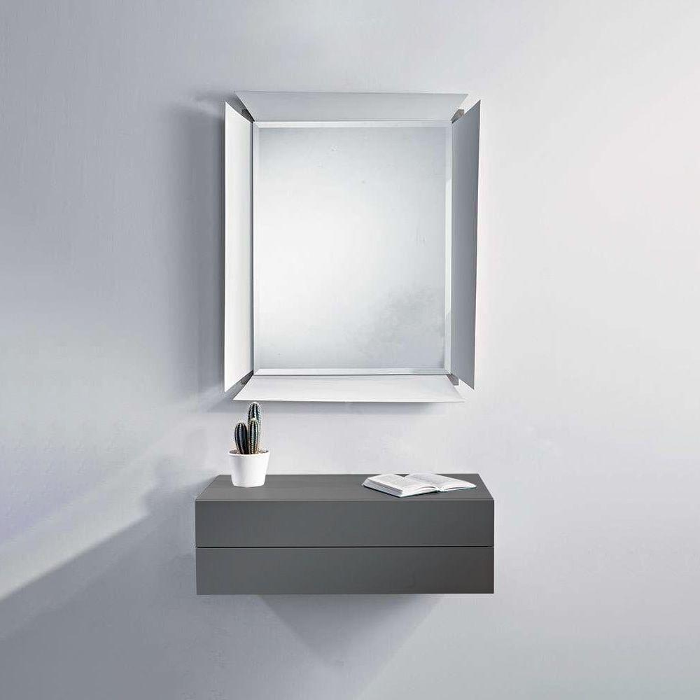 Due B - Mobile ingresso con due cassetti e specchio - Sediarreda