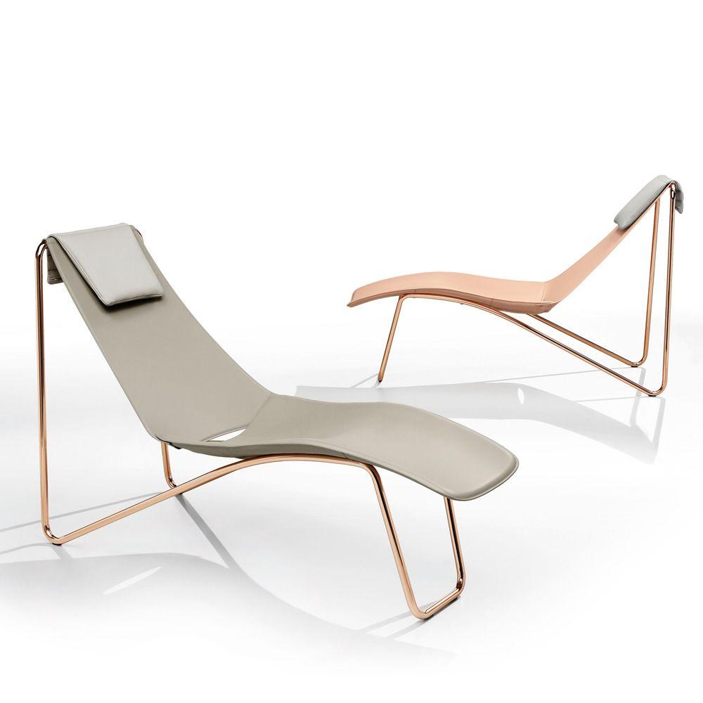 Apelle cl chaise longue midj in metallo seduta for Chaise longue speciale