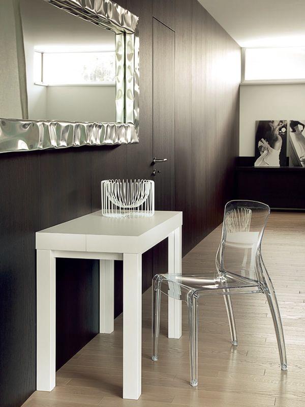 Cosmo consolle domitalia en bois 100x50 cm rallonge for Bureau 100x50