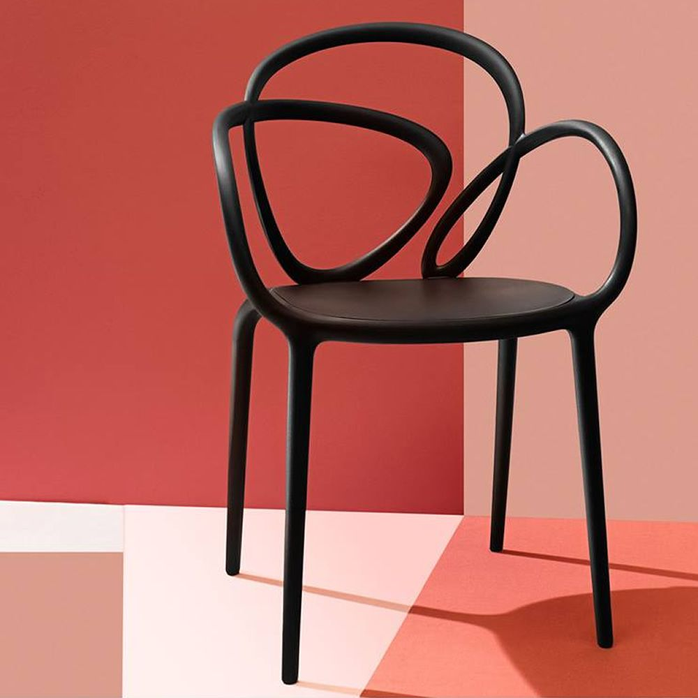 Loop chair sedia di design qeeboo in polipropilene for Sedia design faccia