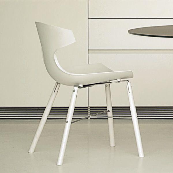 Echo l sedia domitalia in legno e polipropilene diversi for Sedie legno e plastica
