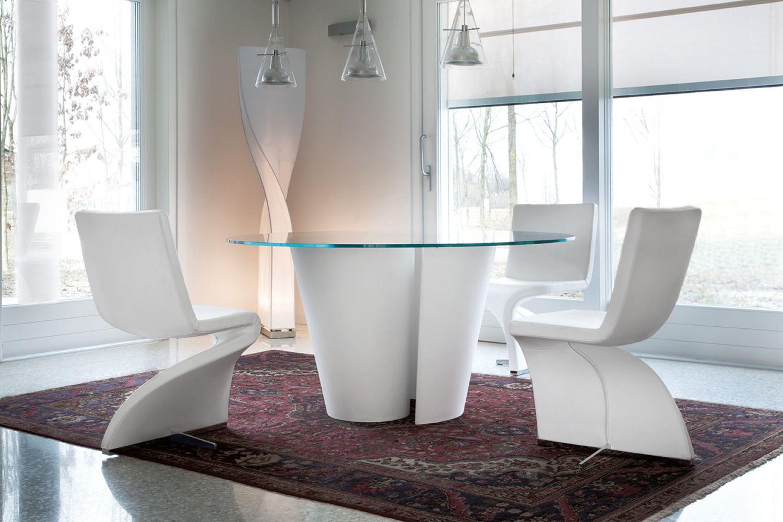 Twister tavolo tonon di design in cristalplant fisso for Tavolo design vetro