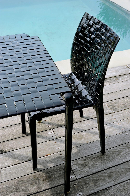Ami ami table tavolo kartell di design in metallo piano in policarbonato 70x70cm anche per - Tavolo policarbonato ...