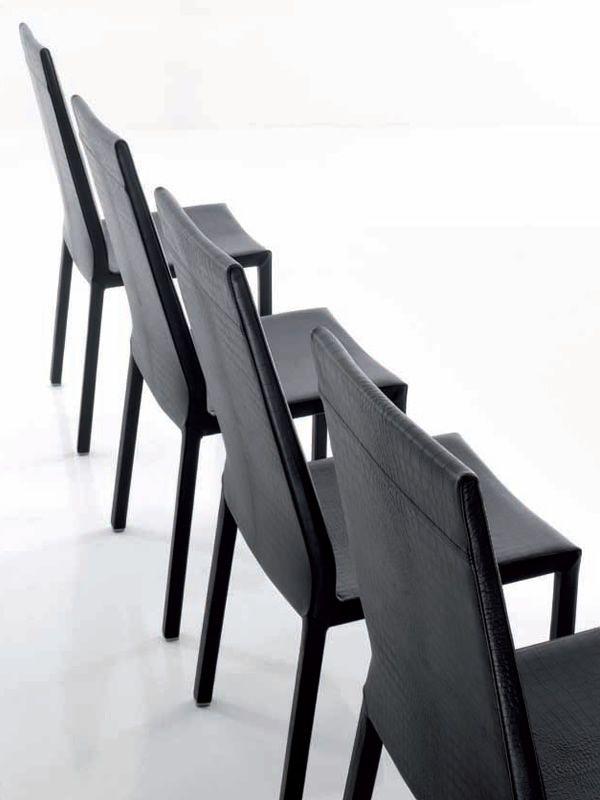giudecca 7267 stuhl tonin casa mit leder oder kunstleder bezogen in verschiedenen farben. Black Bedroom Furniture Sets. Home Design Ideas