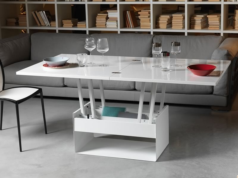 Orfeo petite table transformable en table manger - Table basse convertible en table a manger ...
