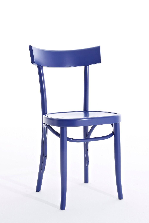 Brera sedia colico in legno massello di faggio diversi for Sedie blu cucina