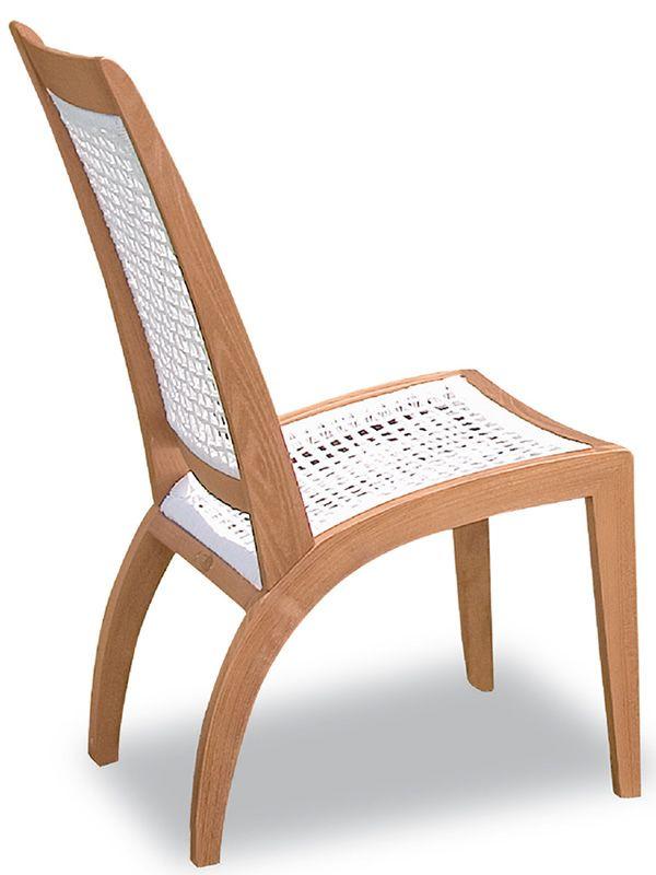 wave p silla de jardn de madera robinia y blanco