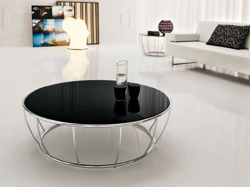 Table de salon ronde design maison design - Table basse ronde en verre design ...