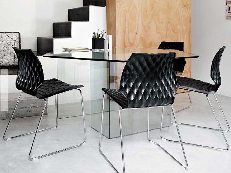 Uni 552 sedia design in metallo e polipropilene for Sedie in acciaio