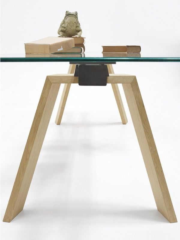 Toronto A: Tisch Midj, Gestell aus Metall, Glas oder Holz, Platte ...