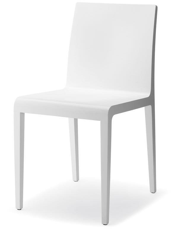 Young 420 sedia pedrali di design in legno di rovere for Sedia design bianca