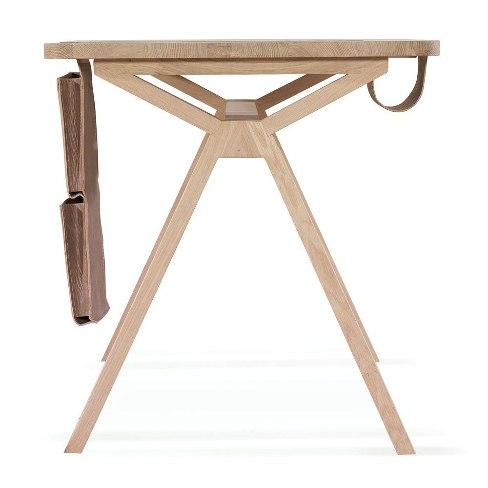 Bolsa scrivania di design in legno con bisaccia for Scrivania design outlet