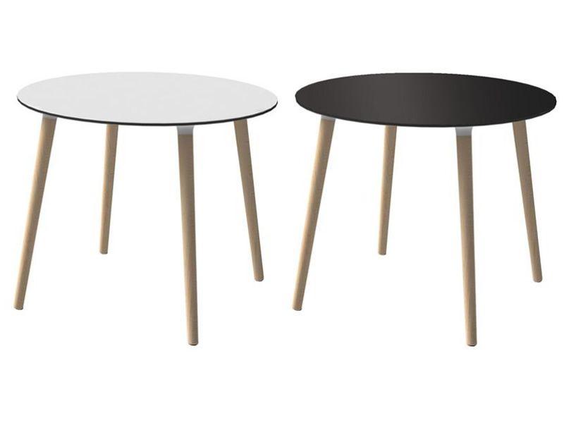 Stefano t tavolo moderno in faggio diverse forme e for Tavolo rotondo nero
