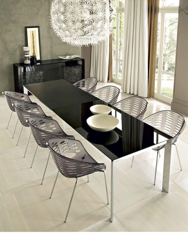 Universe 160 tavolo domitalia in metallo diversi piani - Tavolo in vetro nero ...