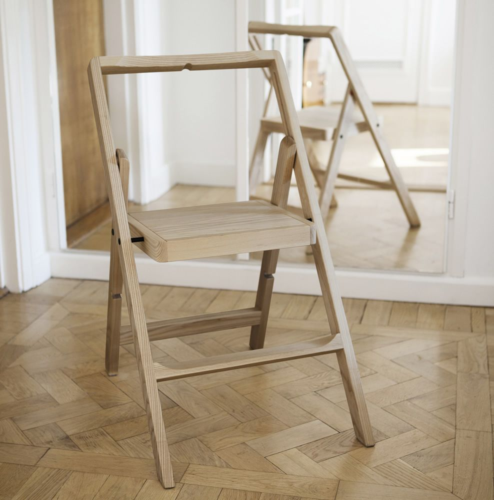 Mini step silla plegable en madera en distintos acabados for Sillas para planos
